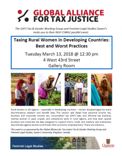 Taxing Rural Women in Developing Countries: Best and Worst Practices @ 4 West 43rd Street, Gallery Room   New York   New York   United States