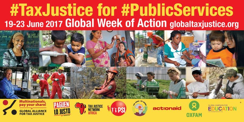 #TaxJustice for #Public Services Global Week of Action